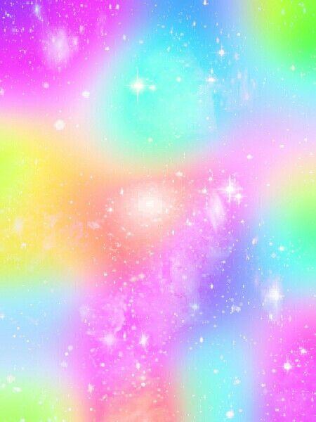 Pastel rainbow unicorn galaxy iridescent holographic - Rainbow background pastel ...