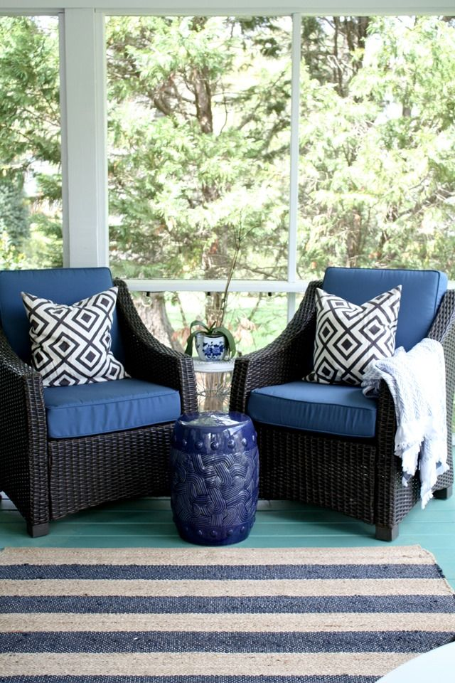 Our Outdoor Furniture Five Years Later Blue Patio Furniture White Patio Furniture Blue Patio