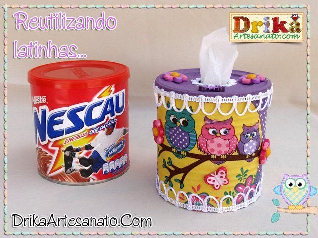 Artesanato Com Reciclagem Lata De Nescau Artesanato Com Latas
