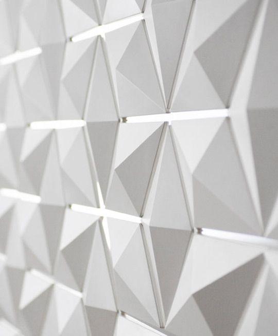 Light Facet Diamond Shaped Light and Room Divider Architecture - Facet Design Pattern