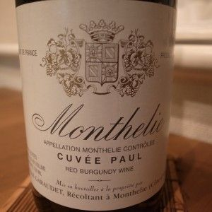 "Wines for a Jack$on (Under $20) – Garaudet Monthelie ""Cuvee Paul"" 2005, Burgundy, France"