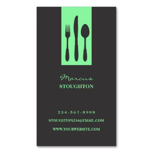 Personal Chef Business Card Zazzle Com Personal Chef Business Restaurant Business Cards Personal Chef