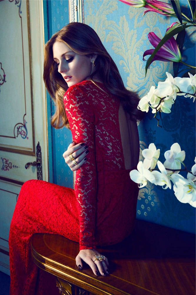 """Olivia Palermo Fronts Carrera y Carrera """"Tesoros del Imperio"""" - the red is gorgeous..  HotWomensClothes.com"""
