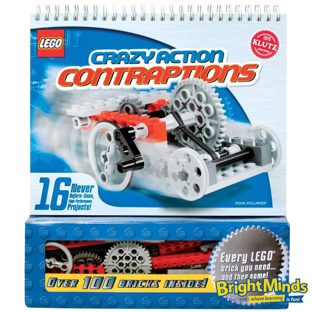 Klutz Lego Crazy Action Contraptions Kids Toy Shop Lego Projects Lego