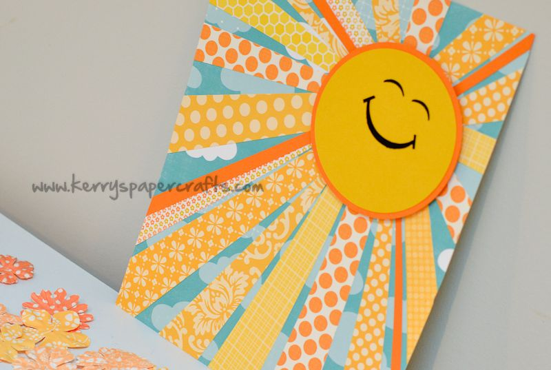 Sunshine Wall Art..use scrapbook paper strips for rays, like a ...