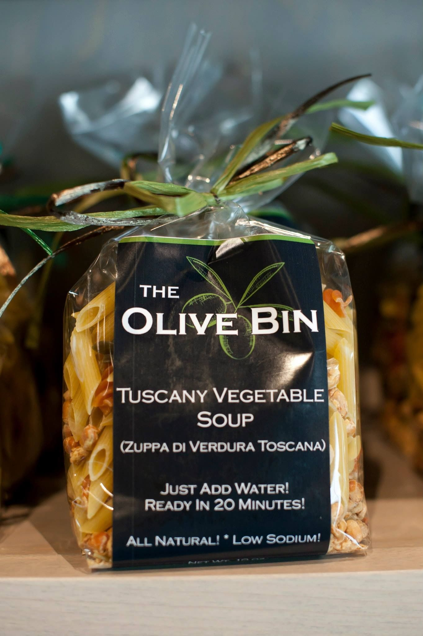 Great for a chilly fall evening - soup and salad supper.! I'm topping my salad with a vinaigrette made with The Olive Bin 18 Year Traditional Balsamic paired with Tuscan Herb Olive Oil