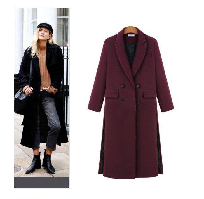 Spring Womens Wool P Coat on Long Woolen Coat Loose Type Fe Wool Jackets Fe Outwear
