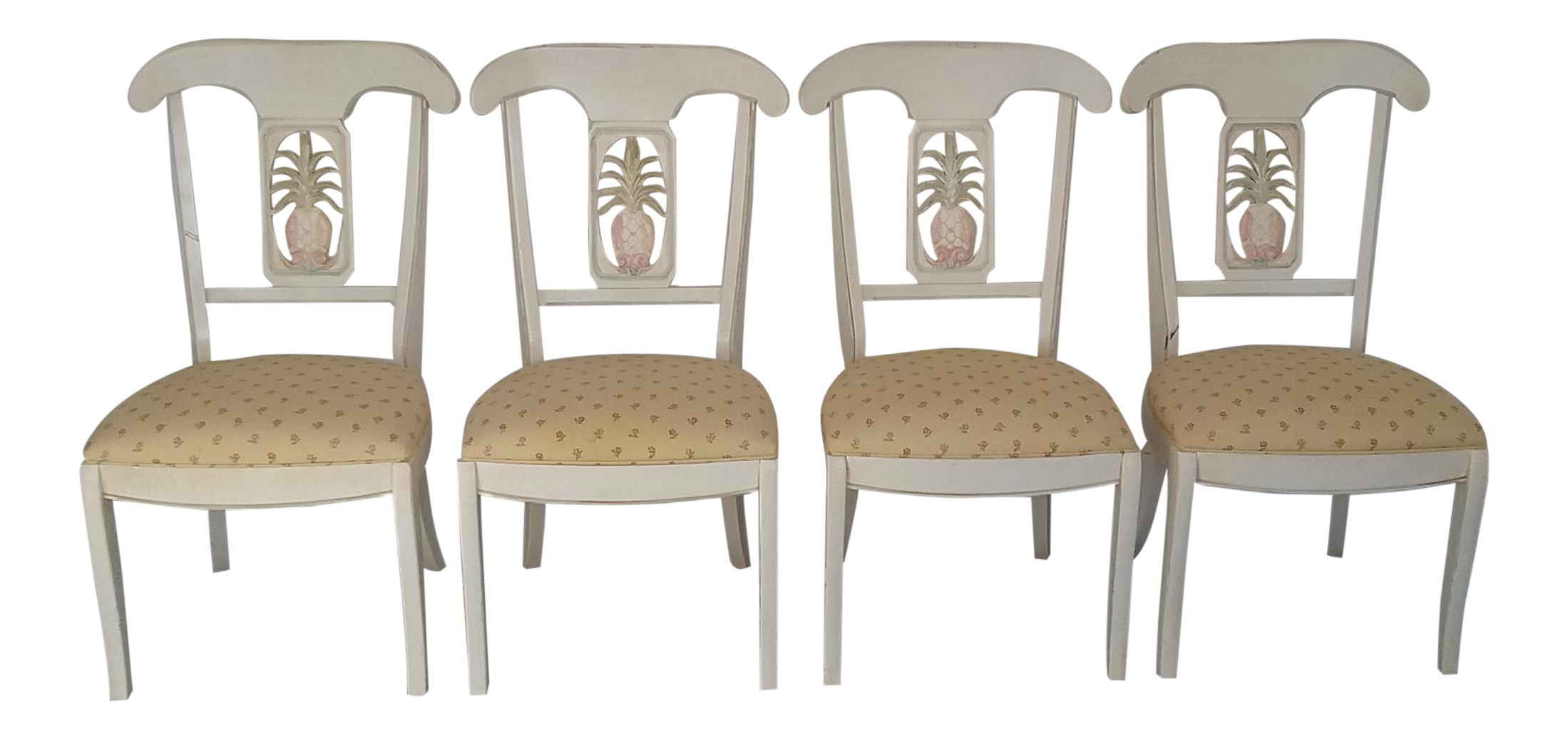 Ethan Allen Legacy Solid Wood Dining Chairs Set of 4