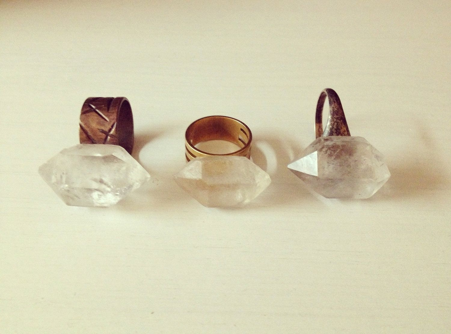 Raw Quartz Crystal Ring. 43.00, via Etsy. (With images