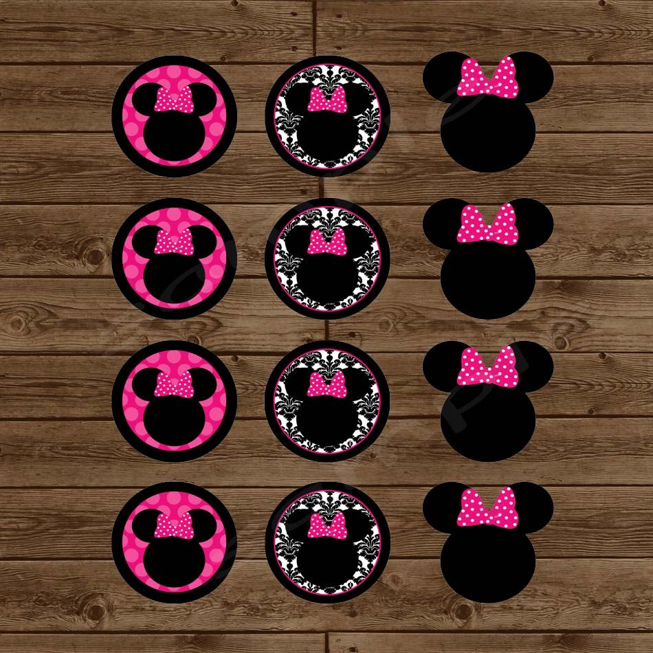 Minnie Mouse Cupcake Toppers DIY Printable by PartiesByKristine