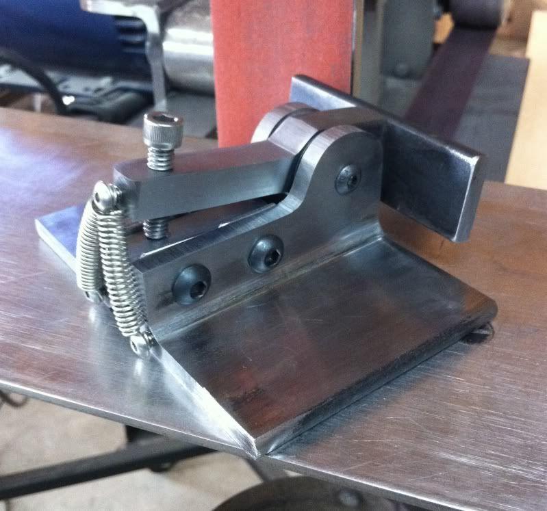 Blade Grinding Fixture : Folder grinding jig knife making pinterest