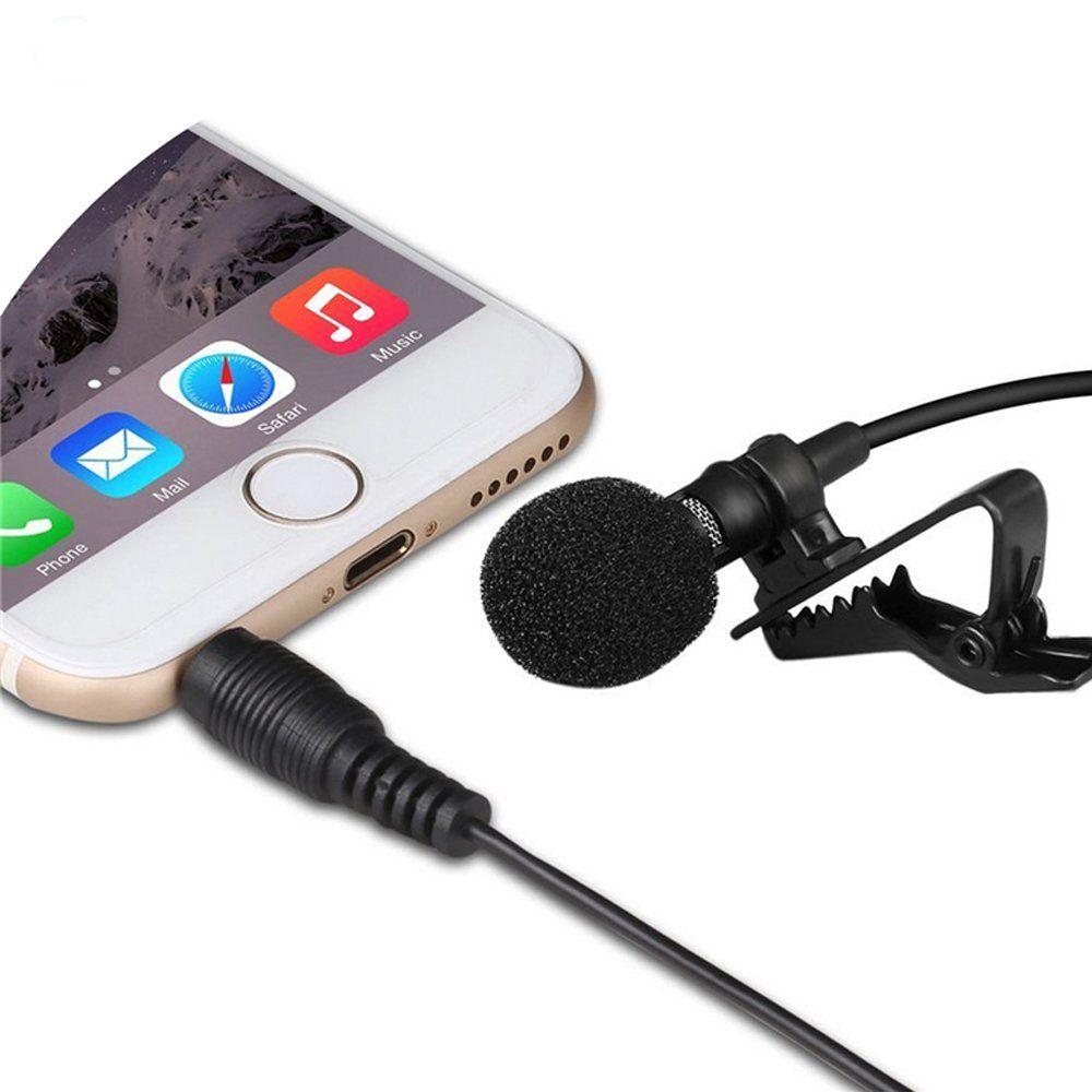 FeBite iPhone Lavalier Microphone Mini Condenser Hands