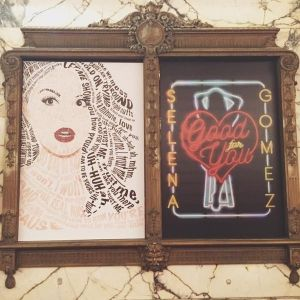 Selena art at her #RevivalEvent in Los Angeles