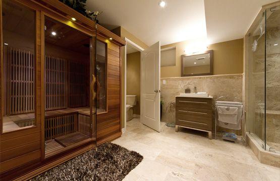 Bathroom And Sauna Finished Basement Finishing Basement