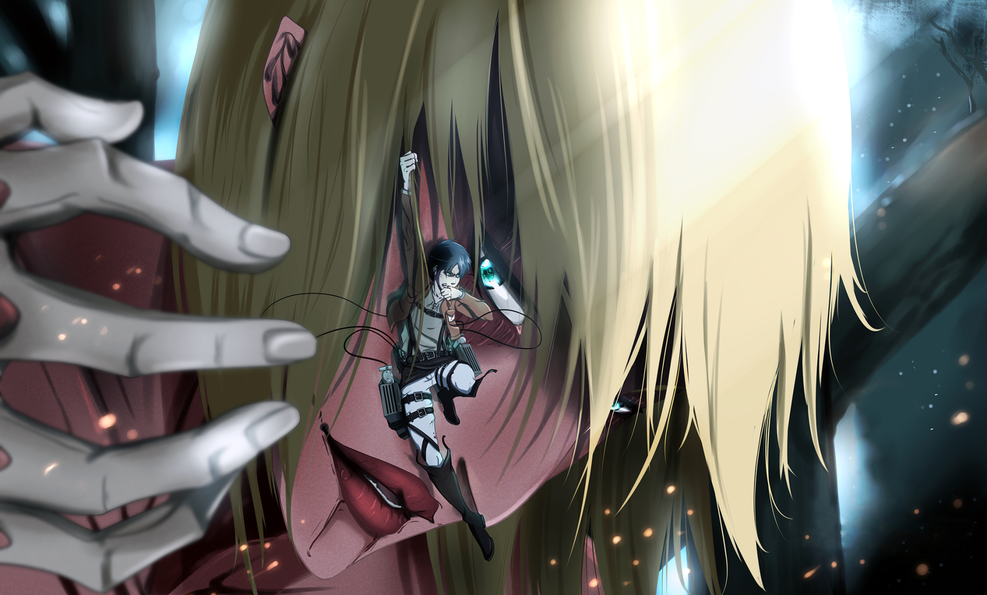 Anime Attack On Titan Annie Leonhart Eren Yeager Wallpaper Attack