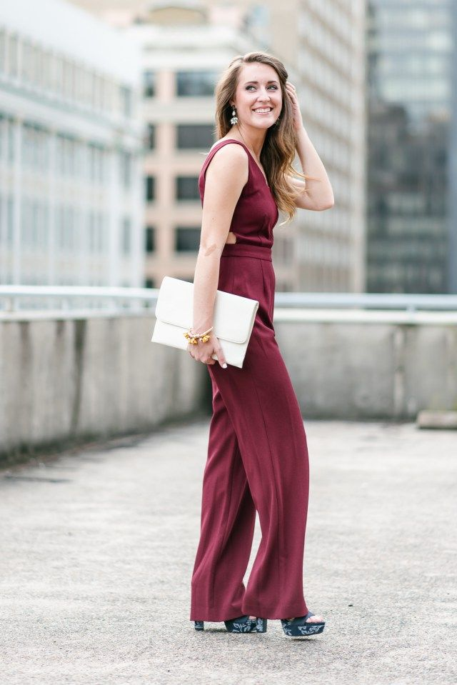 Fall Wedding Guest Jumpsuit It S All Chic To Me Houston Fashion Blogger Style Blog Jumpsuit For Wedding Guest Wedding Guest Outfit Fall Summer Wedding Outfits
