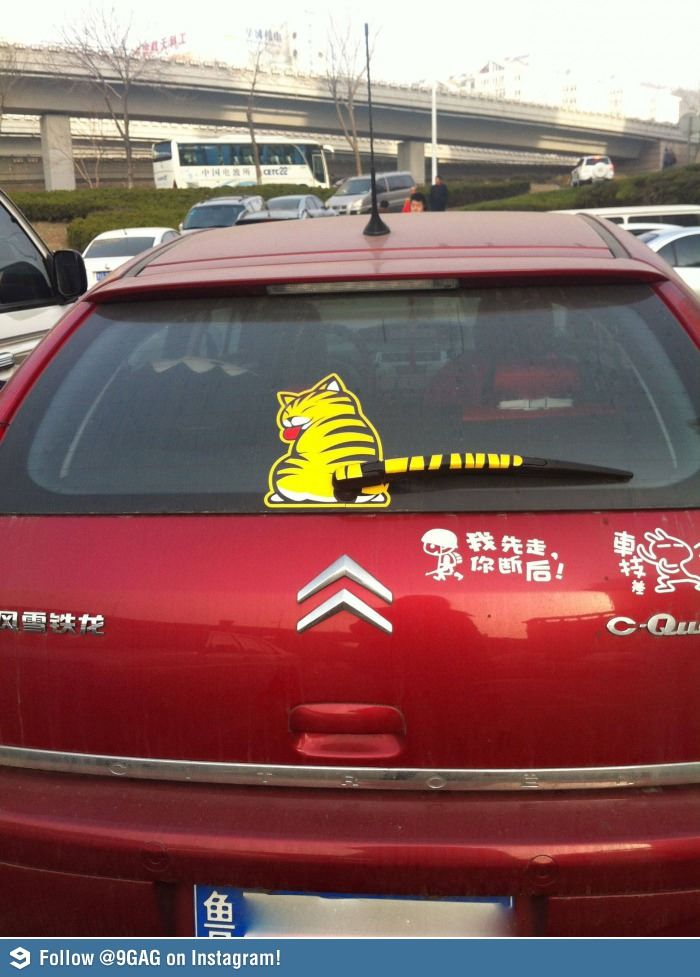 Rear Wipers In China Funny Pictures Funny Pics
