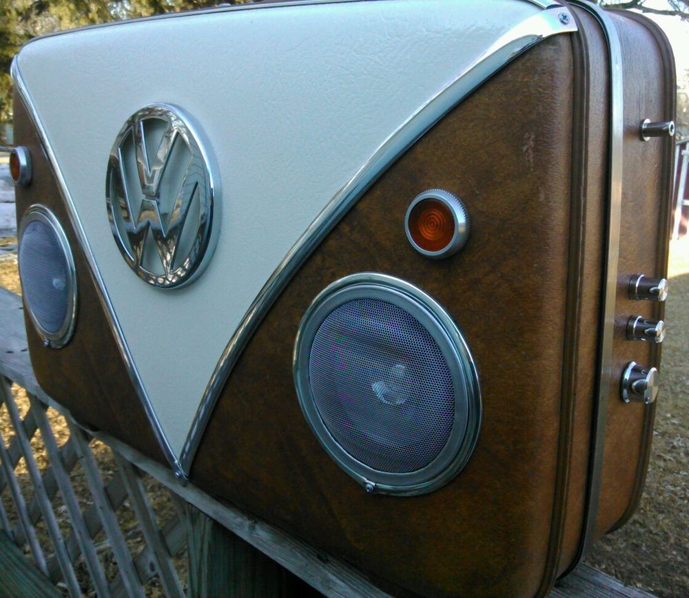 The Vdub Mookbox - Vintage suitcase Boombox inspired by the Vw ...
