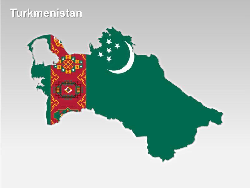 Physical map of Turkmenistan Turkmenistan