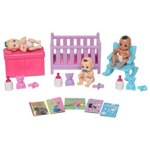Baby in My Pocket Naptime Nursery by Baby in my Pocket. $37.79. Set Comes With 20 Pieces Including 3 Babies And A Collectors Sticker Sheet. Create A World Of Miniature Babydoll Fun With 3 Baby In My Pocket Poseable Babies Plus Lots Of Fun Themed Accessories. Set Comes with 20 Pieces Including 3 Babies And A Collectors Sticker Sheet. manufacturer's Suggested Age: 4 Years And Up.