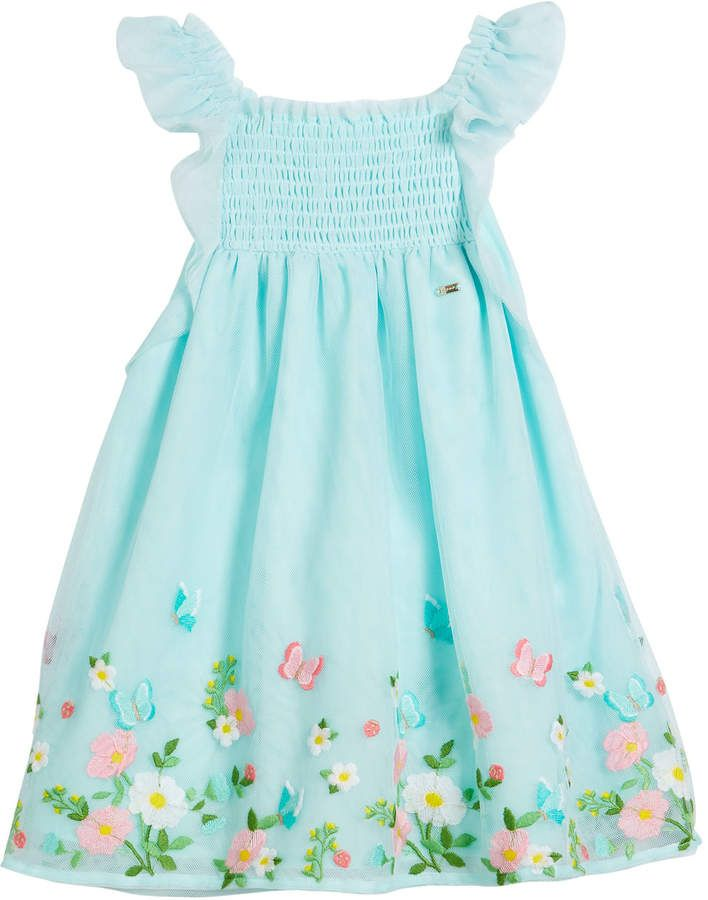 d23e97c9237 Mayoral Floral Embroidered Tulle Dress, Size 12-36 Months Baby Girl Dresses,  Toddler