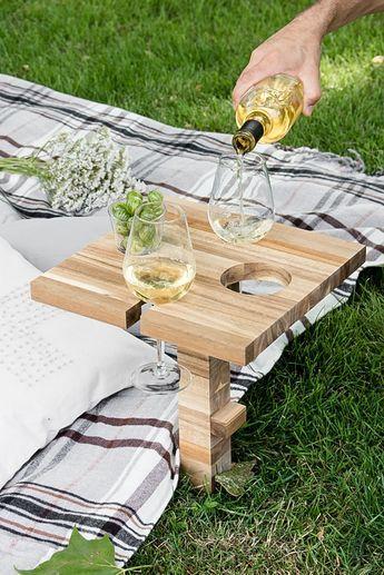 Picknicktisch Weinhalter Schneidebrett Ikea Hack Wein