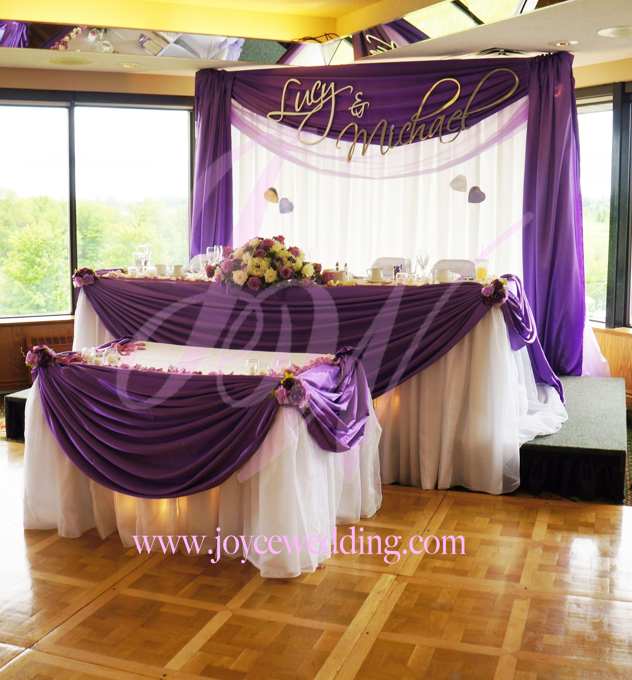 Wedding Head Table Decoration Ideas: Matching #drapery Styles For #head And