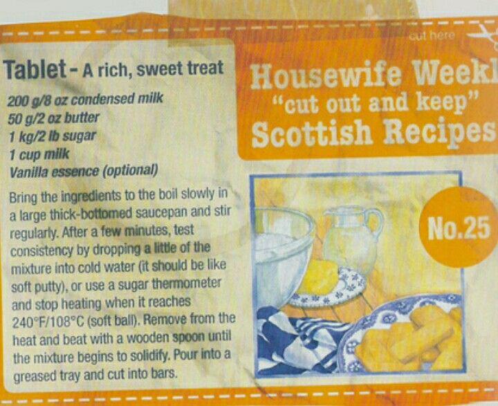 Maw Broon's tablet recipe   Scottish recipes, Tablet ...