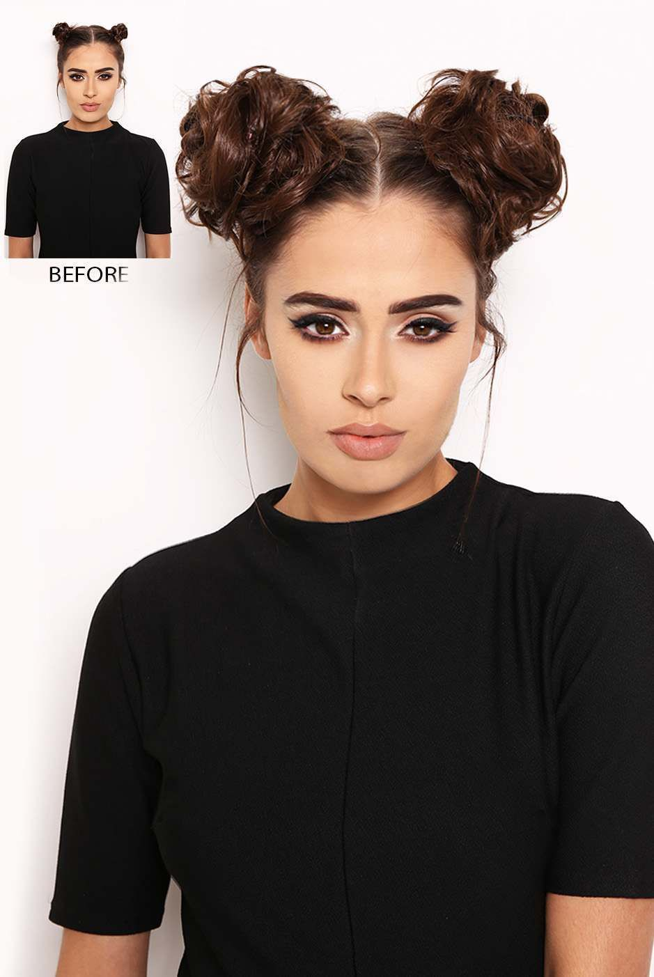 Style It Up With Our Super Cute Space Buns These Mini Scrunchie Buns Are Perfect For Adding Volume To Your Buns Space Buns Hair Hair Pieces Bun Hairstyles