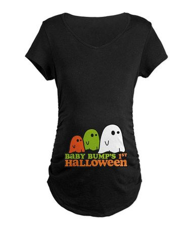564725cef3a8a Take a look at this Black  Baby Bump s First Halloween  Maternity Tee -  Women by CafePress on  zulily today!