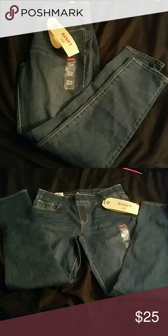 New Levis pull on jeans New Levis mid blue skinny pull on jeans. Size 8/29 Levi's Jeans Skinny