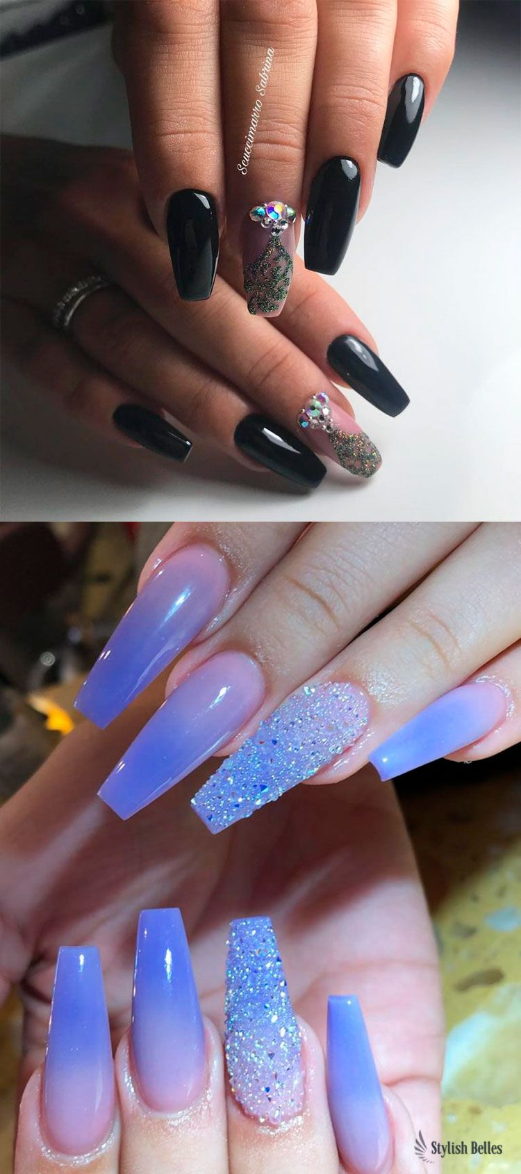 120 Best Coffin Nails Ideas That Suit Everyone Purple Ombre Nails Shiny Nails Designs Coffin Nails Ombre
