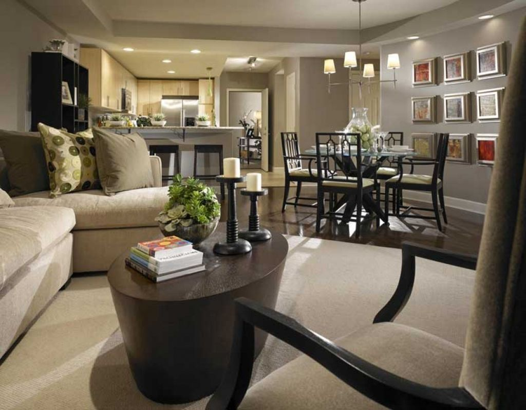 Open Living Room Kitchen Decorating Ideas Dining Room Small