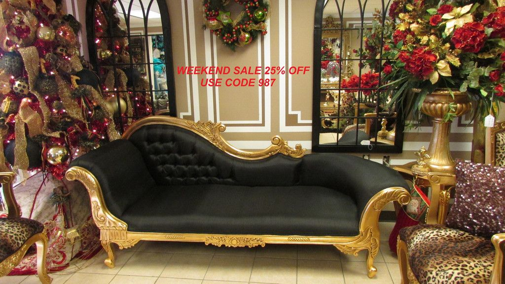 """Queen Anne"""" French Orleans Gold Foil Louis XVI Baroque Rococo Style"""