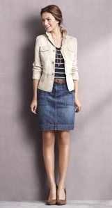denim skirt. clean and classic.