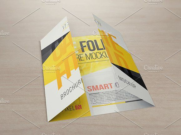 X  Gate Fold Brochure Mockups By Vecto Designs On