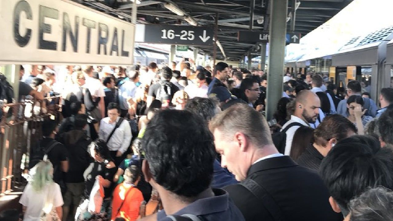 A broken down train has sparked commuter chaos in Sydney