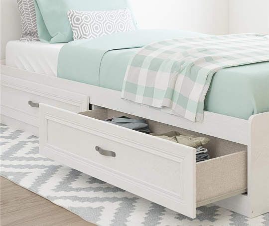 Best Magnolia Oak White Twin Mates Storage Bed Bed Oak 400 x 300