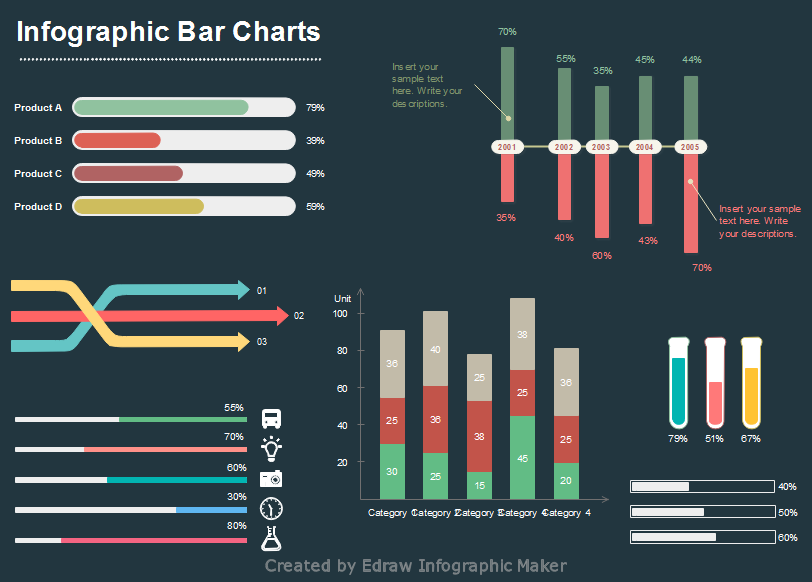 Editable bar charts for infographic design also infographics rh pinterest