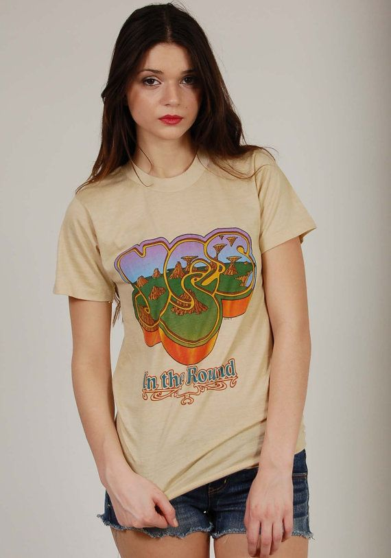 Rare Yes Vintage 70s Tshirt In The Round 1979 Tour Shirt Small Cool T Shirts Tour Shirt Shirts