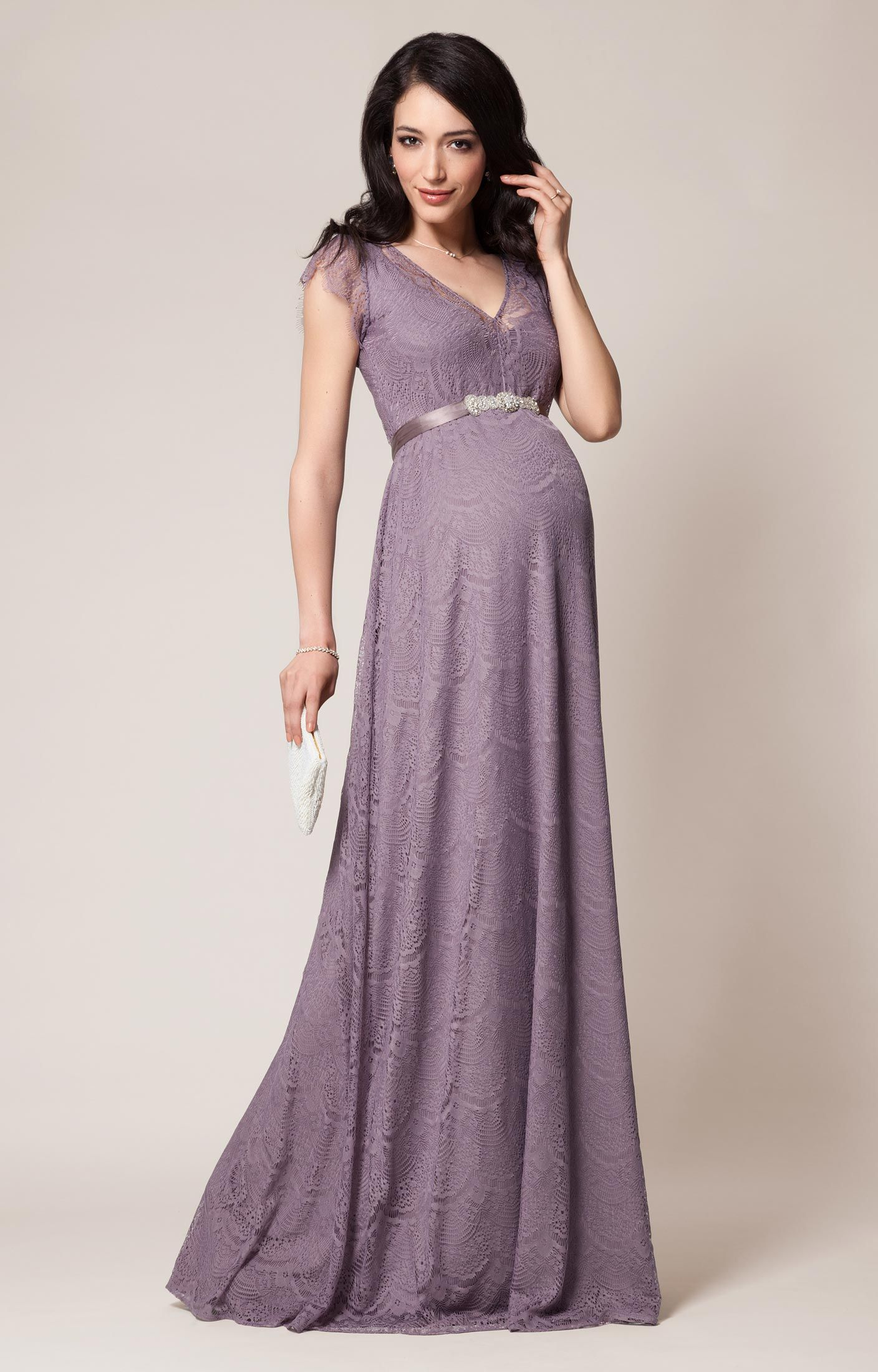 Kristin Maternity Gown Long Wisteria By Tiffany Rose Maternity
