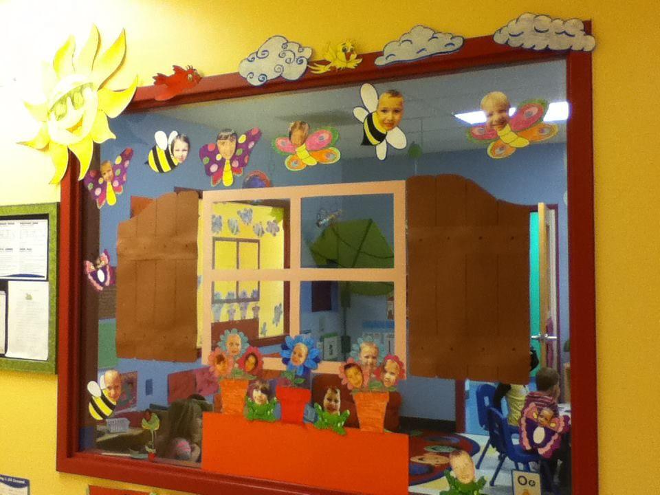 Spring, window decoration for preschool projectgabi