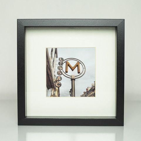 9 x 9 framed photograph; copyright: Sarah G. Stevenson Red Line Design - Wander Collection: Paris - Metro