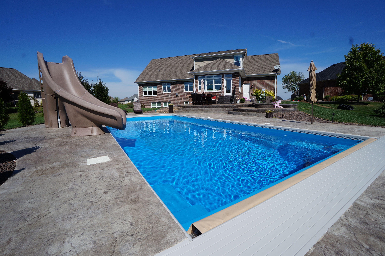 Thursday Pools Fiberglass Swimming Pool Goliath California Color ·  Fiberglass Swimming PoolsPool IdeasPatio Ideas
