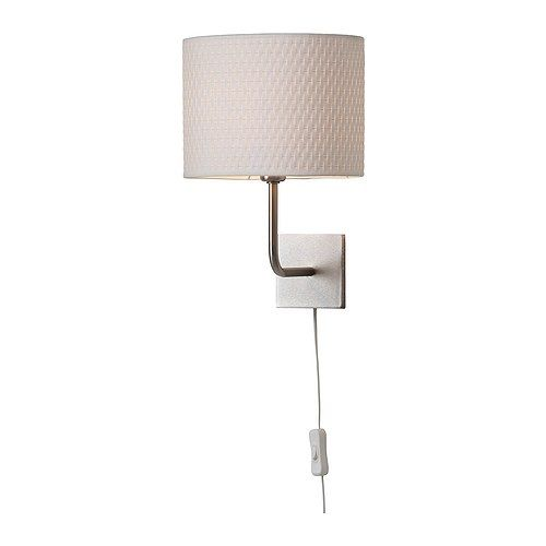 Or A Nice Accent For Master Bedroom Ikea AlÄng Wall Lamp Nickel Plated White 19 99 Gives Soft Mood Light