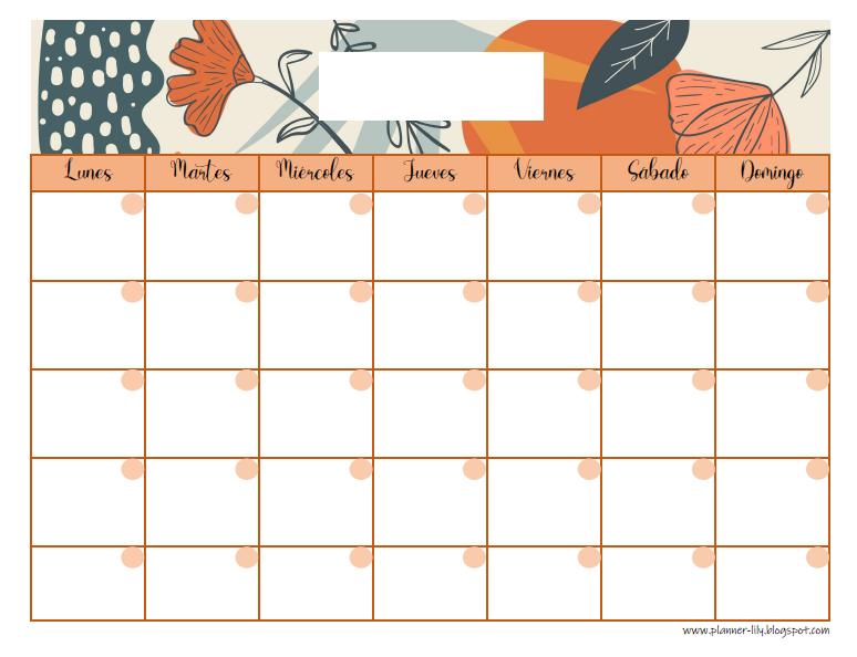 Planner Mensual Gratis Imprimible