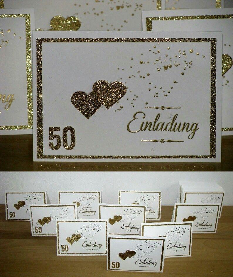 Einladung Zur Goldenen Hochzeit 50 Jahre Verheiratet Eigene