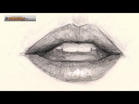 How to draw lips   How to draw and paint tutorials video and step by step