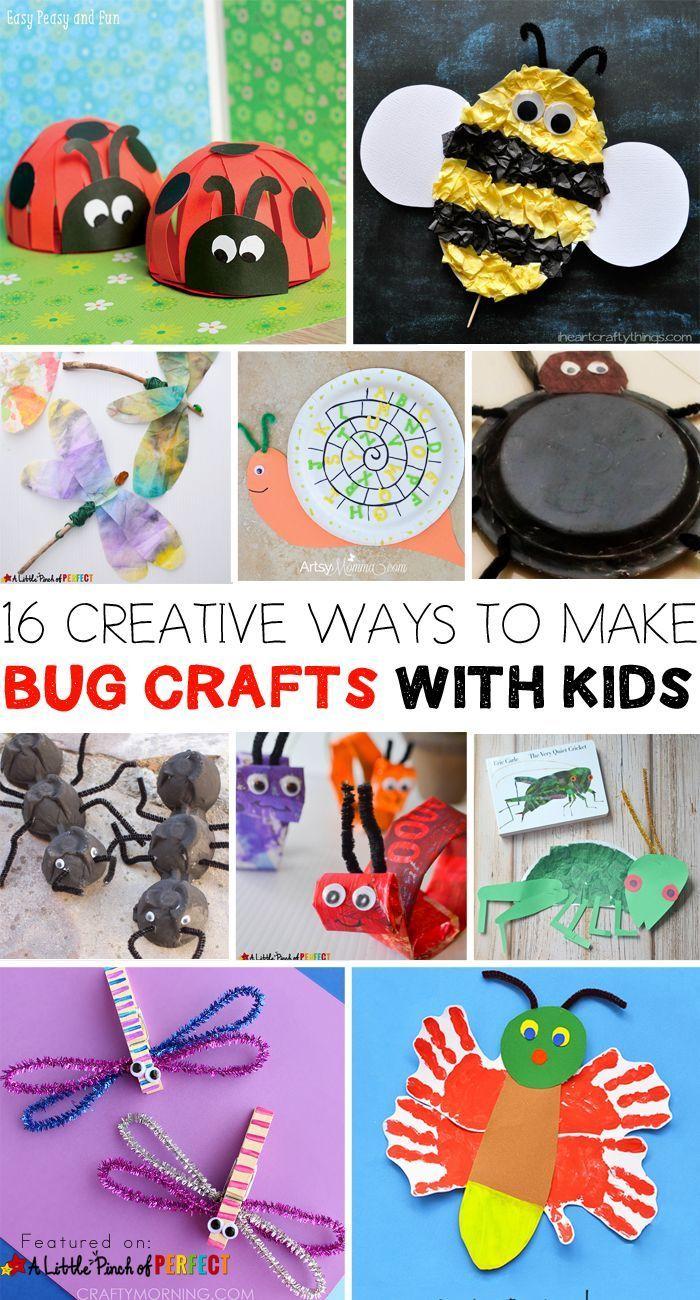 16 Creative Ways To Make Bug Crafts With Kids Bug Crafts
