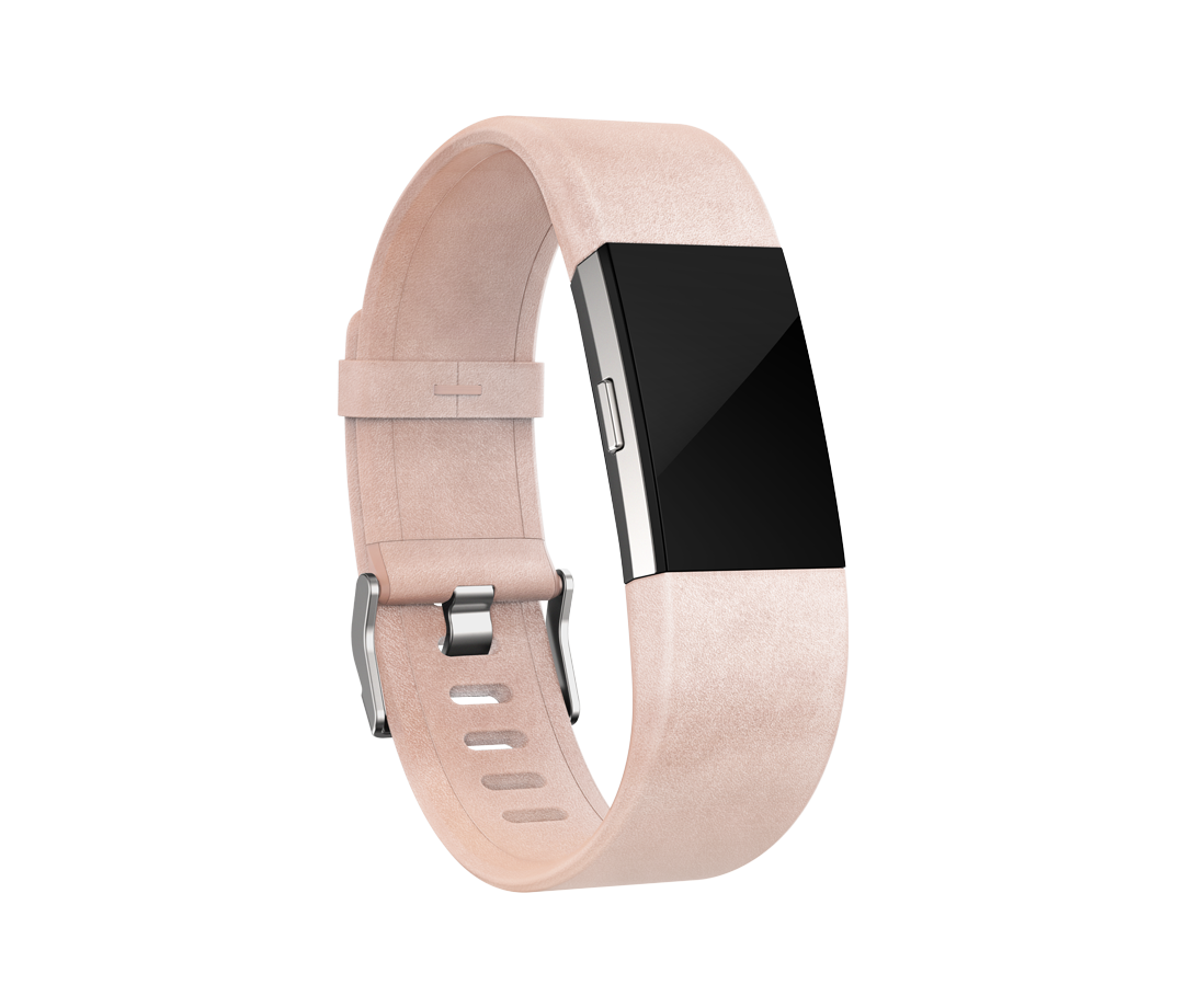 Fitbit Charge 2 Accessories Blush Pink Leather Band My